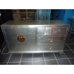 Buffet argento cinese 2 ante 4 cassetti