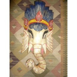 Grand masque lord ganesha bianco - N° 39