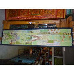 funda de almohada 60x60 azul púrpura borde brocado tafetán