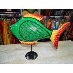 Pesce tinfish dipinto a mano in colore verde scuro