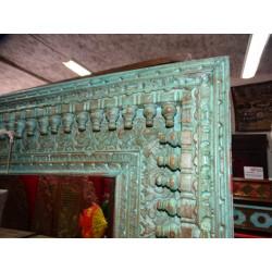 Acqua vaso dipintoe mano greggio (MM)