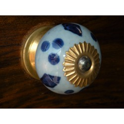 Pomelli dei cassetti porcellana azzuro/outremer