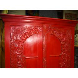 Manico in bronzo grenouille vert