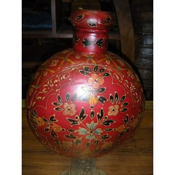 Acqua vaso dipinto a mano MM rosso