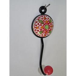Fogliame copertina ricamata rosa 40x40 cm