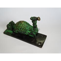 Lucchetto bronzo Ganesh verde