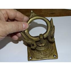 Bronzo lucchetto Saraswati verde