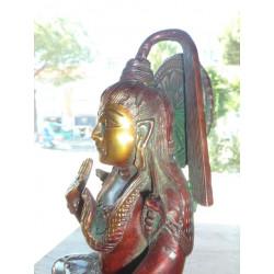 gancio di ceramica 8x8 cm 5 turchese e fiori bianchi