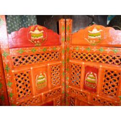 Ricamato arabeschi e specchi lucido Brown