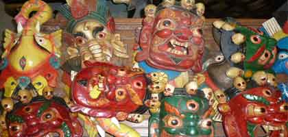 maschere nepalesi